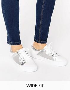 Сетчатые кроссовки для широкой стопы ASOS DANI - Белый