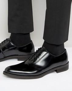 Блестящие кожаные оксфордские туфли Zign - Черный