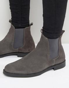 Замшевые ботинки челси Zign - Серый