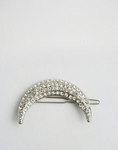 Заколка для волос с дизайном в форме месяца ASOS - Серебряный