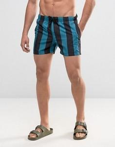 Короткие шорты для плавания в полоску ASOS - Мульти