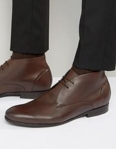 Кожаные ботинки чукка Hudson London Kender - Коричневый