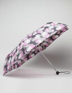 Зонт с принтом перьев Fulton - Мульти