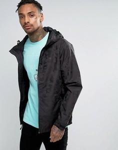 Легкая куртка с камуфляжным принтом HUF - Черный