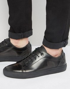 Кожаные кроссовки Ted Baker Kiing - Серый