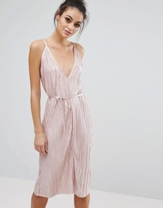 Love & Other Things Glitter Lurex Culotte Jumpsuit - Розовый