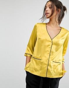 Блузка с карманом спереди Missguided - Желтый
