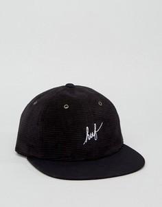 6-панельная вельветовая кепка HUF - Черный