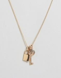 Ожерелье с подвесками Chained & Able - Золотой