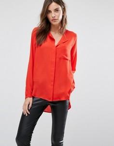 Рубашка с карманом спереди Selected - Красный