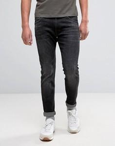 Темно-серые выбеленные джинсы скинни Wrangler Bryson - Синий