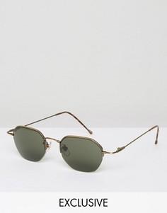 Круглые солнцезащитные очки Reclaimed Vintage - Серебряный