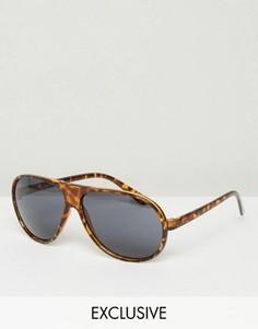 Солнцезащитные очки-авиаторы Reclaimed Vintage - Коричневый