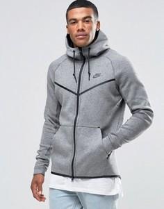 Серая флисовая ветровка Nike Tech 805144-091 - Серый
