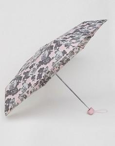 Миниатюрный зонт с принтом роз Totes - Розовый