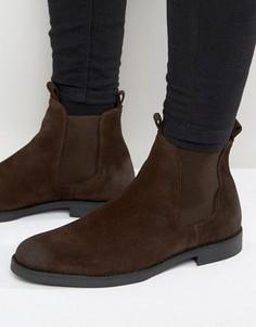 Замшевые ботинки челси Zign - Коричневый