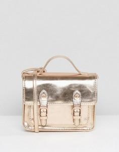 Небольшая сумка сэтчел цвета металлик ASOS - Медный