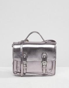 Небольшая сумка сэтчел цвета металлик ASOS - Серый