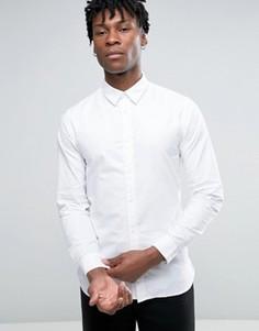 Узкая оксфордская рубашка с длинными рукавами Selected Homme - Белый