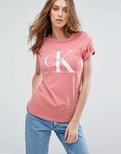 Футболка с логотипом Calvin Klein Jeans - Розовый