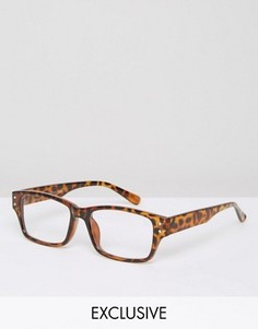 Квадратные очки Reclaimed Vintage - Коричневый