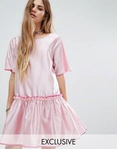 Свободное платье с заниженной талией Reclaimed Vintage - Красный