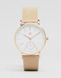 Часы с большим циферблатом ASOS - Кремовый