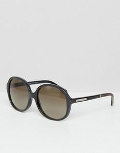 Большие круглые солнцезащитные очки Micheal Kors - Черный