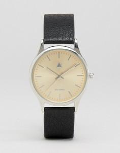 Часы с золотистым циферблатом ASOS - Черный