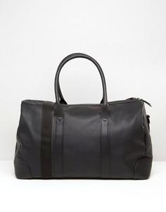 Черная кожаная сумка ASOS - Черный
