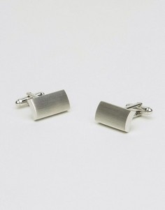Шлифованные серебристые запонки ASOS - Серебряный