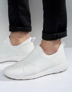 Белые кроссовки с эластичными ремешками ASOS - Белый