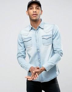 Джинсовая рубашка Bellfield - Темно-синий