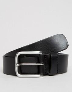 Черный кожаный ремень Royal RepubliQ Double Patriot - Черный