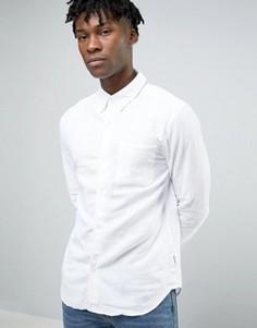 Рубашка из смешанного льна Bellfield - Белый