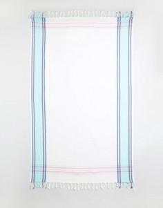Тканое пляжное полотенце Soleil - Белый