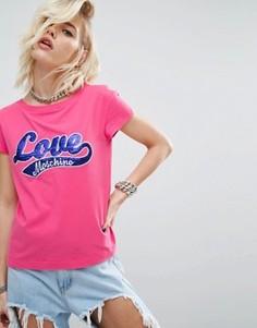Футболка с логотипом Love Moschino - Розовый