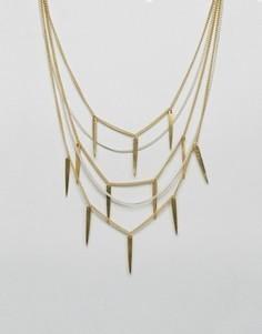 Многорядное ожерелье Made Statement - Золотой