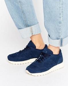 Темно-синие замшевые кроссовки Saucony Jazz O - Темно-синий
