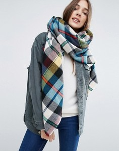 Oversize-шарф в разноцветную клетку ASOS - Мульти