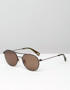 Круглые солнцезащитные очки G-Star Defender - Коричневый