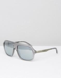 Серые солнцезащитные очки-маска Calvin Klein - Серый
