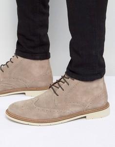 Замшевые ботинки-броги на шнуровке Tommy Hilfiger Metro - Stone
