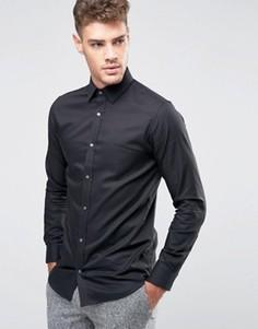 Узкая рубашка из 100% хлопка Jack & Jones Premium - Черный
