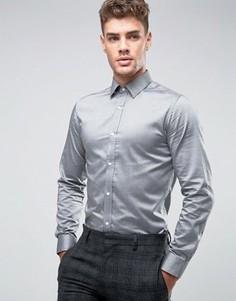 Узкая рубашка из 100% хлопка Jack & Jones Premium - Серый