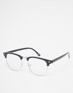 Очки в стиле ретро с прозрачными линзами ASOS - Черный