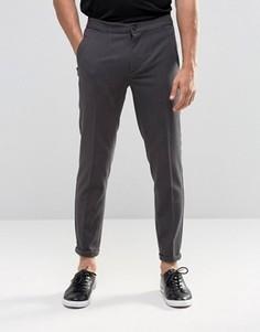 Серые укороченные повседневные брюки Lindbergh - Серый