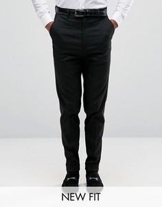 Черные строгие брюки с завышенной талией ASOS - Черный