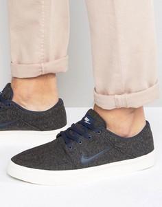 Серые кроссовки-премиум Nike SB Portmore 807399-041 - Серый