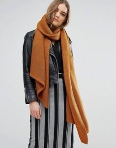 Oversize-шарф Pieces - Оранжевый